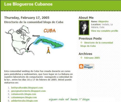 Sobre blogs y colectivos destacados en la blogosferacubana